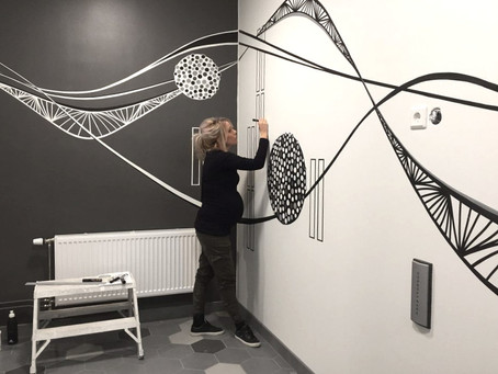 Dekorationsmåleri i Kallebäcks torn.
