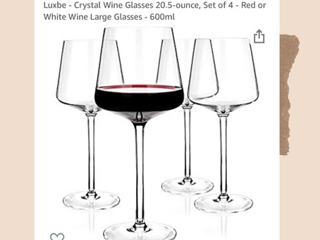 Amazon Crystal Wine Glasses