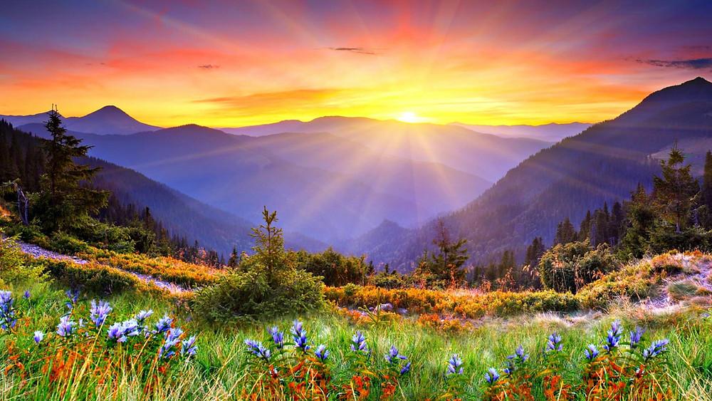 Each sunrise brings a new beginning