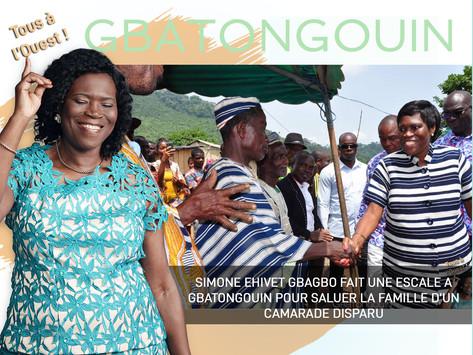 SIMONE EHIVET GBAGBO FAIT UNE ESCALE A GBATONGOUIN POUR SALUER LA FAMILLE D'UN CAMARADE DISPARU