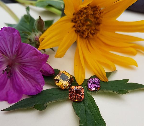 Golden topaz, imperial topaz and pink topaz for sale from Lockwod and Sloan