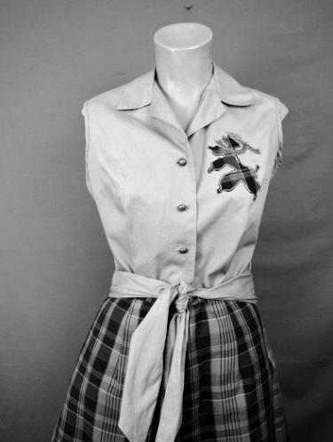 Vintage Poodle Blouse & Short Set