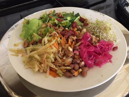 Making a super delicious salad