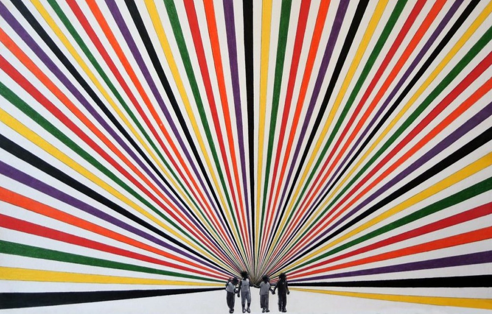"ARTWORK: Rico Gatson, ""Watts Kids,"" 2015"