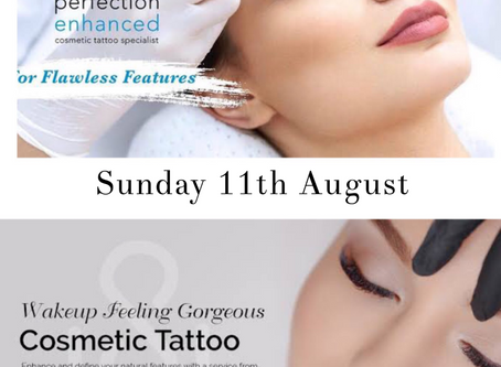 Cosmetic Tattooing 11th August. $50 deposit is required