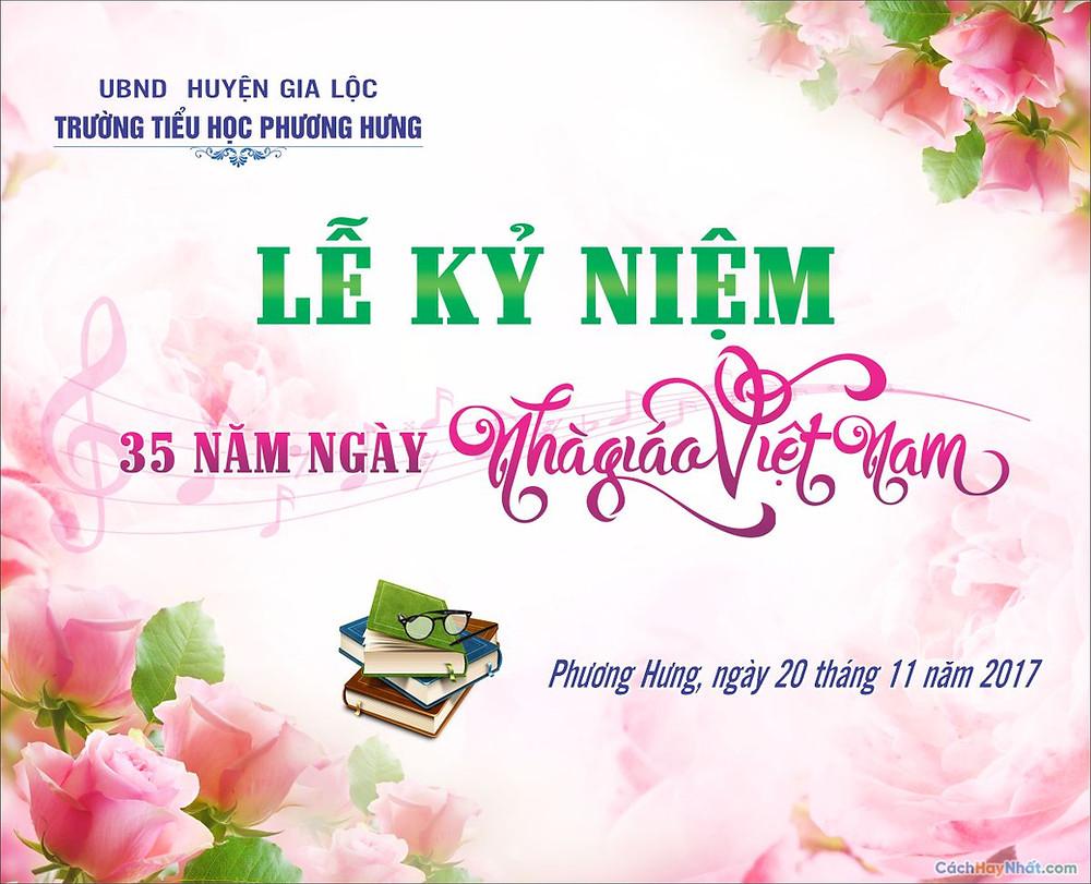 Phông Lễ kỷ niệm ngày nhà giáo Việt Nam