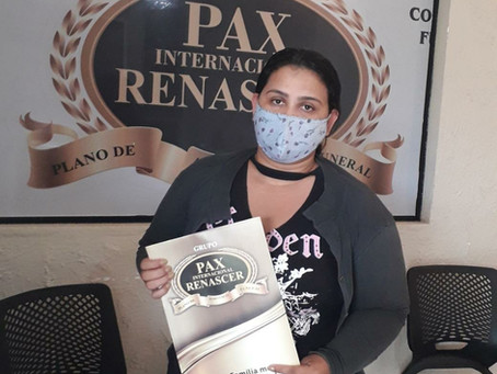 Sra Nadrielle, veio em nosso escritório em Lucas do Rio Verde e já adquiriu seu plano.