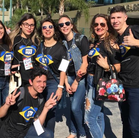 Nossos estudantes  na 26ª edição do Parlamento Jovem Catarinense.