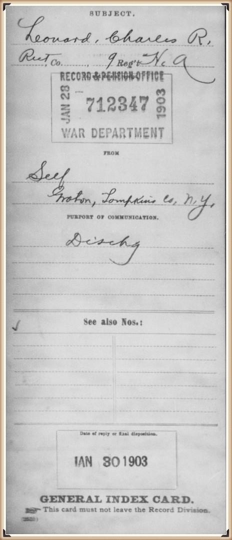 Charles Leonard in the Civil War