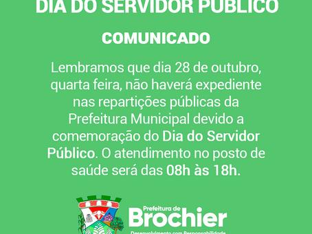Dia do Servidor Público - comunicado