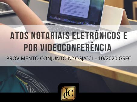 Atos notariais eletrônicos e videoconferência