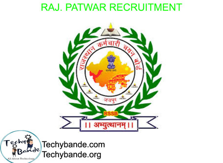 Rajasthan Patwar Recruitment  - 2020