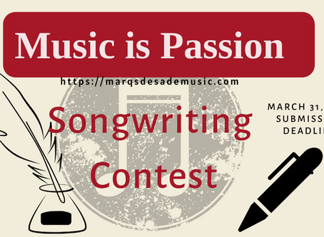 Self-Quarantined? Write a song! ( and maybe win some $$ )