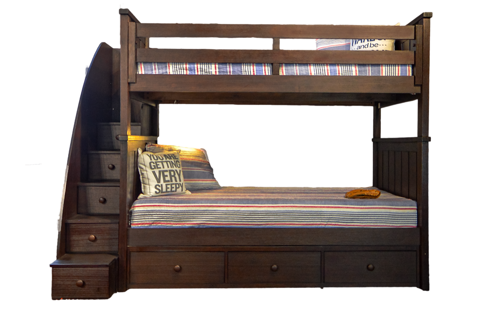 Jordan Bunk Bed available in 3 finishes. Available in 3 sizes Twin/Twin, Twin/Full, and Full/Full.