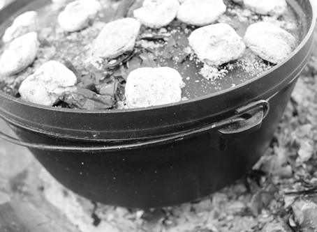 Cast Iron Lodge Pot Cooking