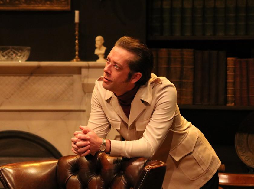 Graham O'Mara as Briggs Joel Macey as Foster in No  Man's Land at Oldham Coliseum