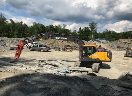 Josh Holbrook Flagstone Breaks Through with a Volvo Excavator & NPK Hammer