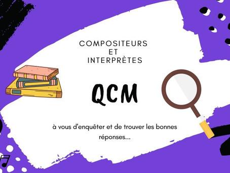 Un QCM pour un grand week-end!