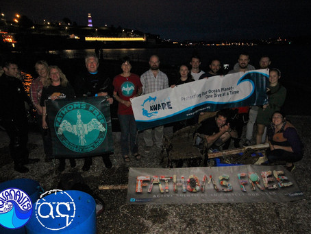 Aquanauts Dive for Debris Plymouth Hoe
