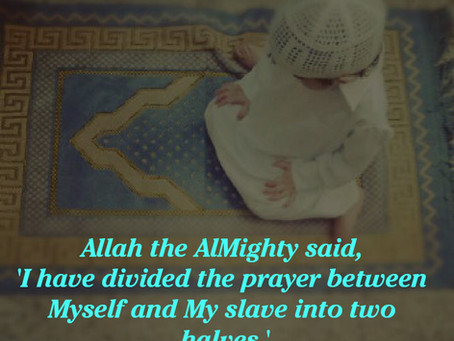 The Prayer is Divided Between You and Allah!