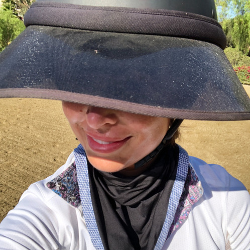 To wear or not to wear a visor and neck kerchief when riding?