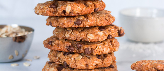 Flourless Peanut Butter Coconut Cookies - Vegan + GF