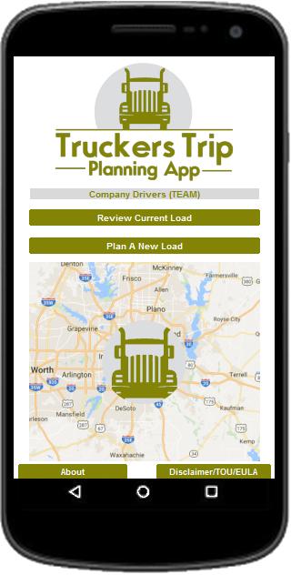 Team Company Drivers Truckers Trip Planning App
