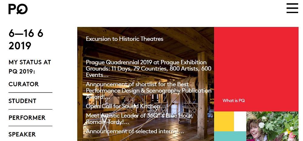 Screenshot of PQ19 website
