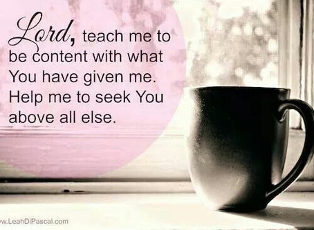 Contentment in Life - Being contended with what we have