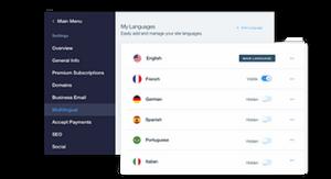 אפליקציית Wix Multilingual