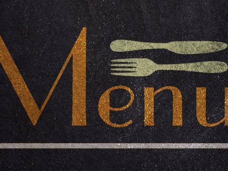 Le Mercredi démarre mon plan de menus