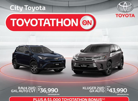 Hurry in to City Toyota for an amazing deal