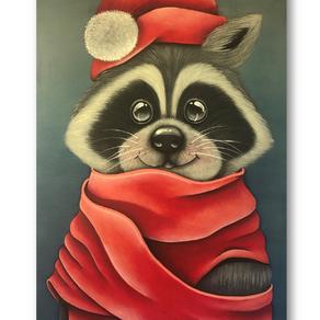 Winter Raccoon - Guaxinin