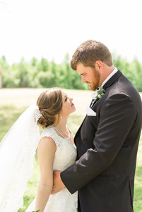 bride and groom portrait outdoors auburn venue