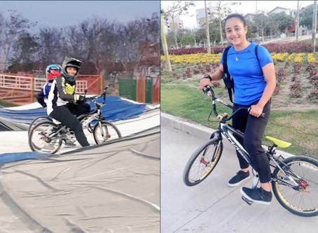 Con una caravana los soledeños reciben hoy a la bicicrocista Sharid Fayad, campeona de BMX