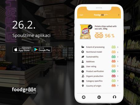 Spuštění aplikace Foodgroot BETA