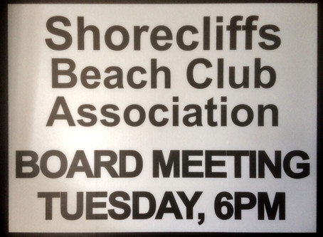 Shorecliffs HOA Meeting: June 12, 2018 @ 6pm
