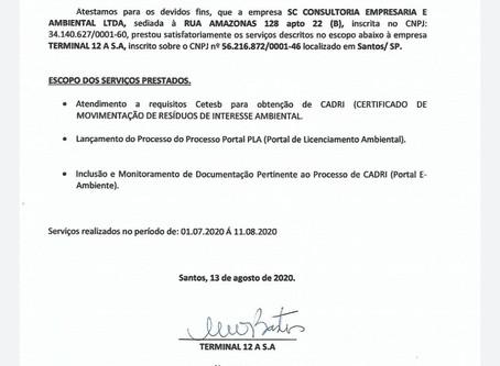 Atestado de Capacidade Técnica_Terminal 12A_Processo de Cadri_08.2020