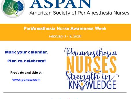 PeriAnesthesia Nurse Awareness Week