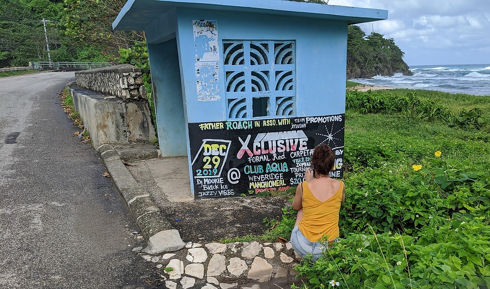 Xculsive dancehall sign photographed by Tracey Thorne, Hand-painted Jamaica, Long Bay, Portland.
