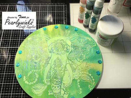 Gorgeous elephant plaque using texture paste