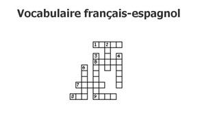 Mots croisés - Vocabulaire français-espagnol