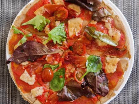 Pizza con base de avena