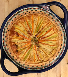 Gérard's Mustard Tart from Around My French Table by Dorie Greenspan prepared by MaryLou