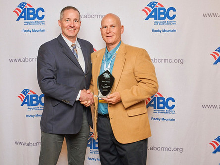 Pinkard Safety Manager Dave Ruddy is ABC Rocky Mountain Chapter's Safety Professional of the Year