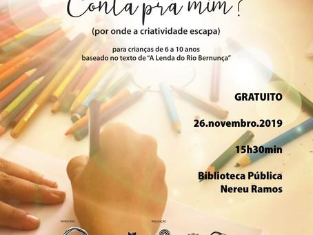 Contação de História, Oficina Criativa e Lançamento de Livro na Biblioteca Pública de Rio do Sul