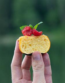 Apelsinų žievelėje ant grilio kepti neįtikėtinai tobuli keksiukai