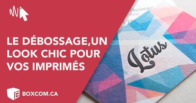Le débossage sur vos imprimés pour une impression haut de gamme. Logo relief et texture.