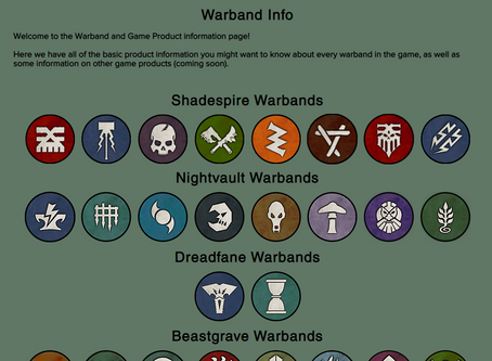 New feature: Warband Info Page! (and a request for assembly instructions pics!)