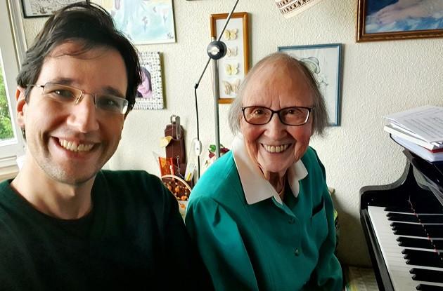 Filmmaker Alexander Tuschinski with songwriter Gerda Herrmann